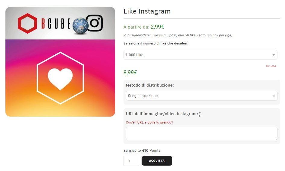 come comprare like su instagram
