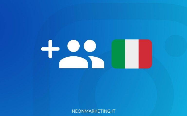 comprare follower instagram italiani