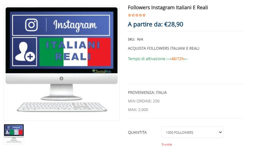 comprare follower italiani social ads