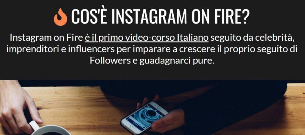 cos'è instagram on fire