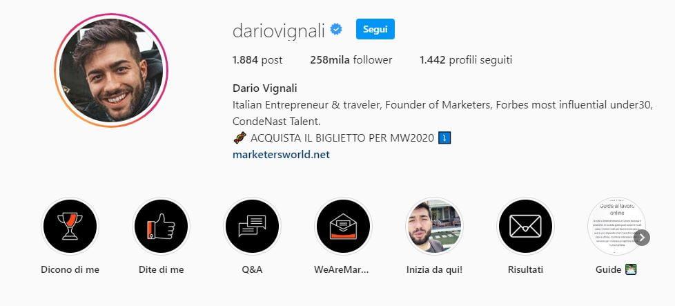 dario vignali corso instagram on fire