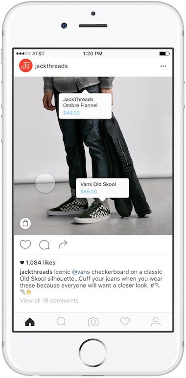 tag instagram shopping