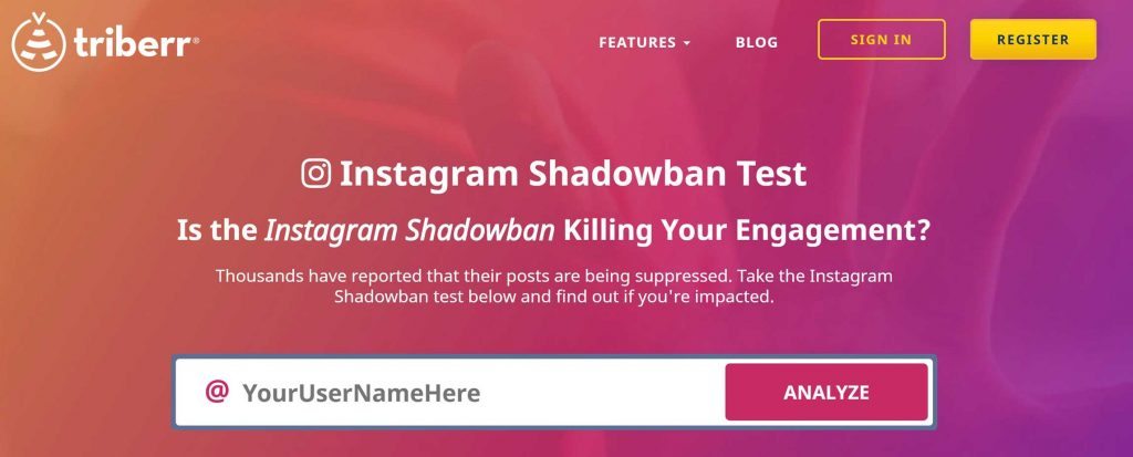 shadowban test