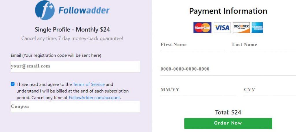 followadder payment