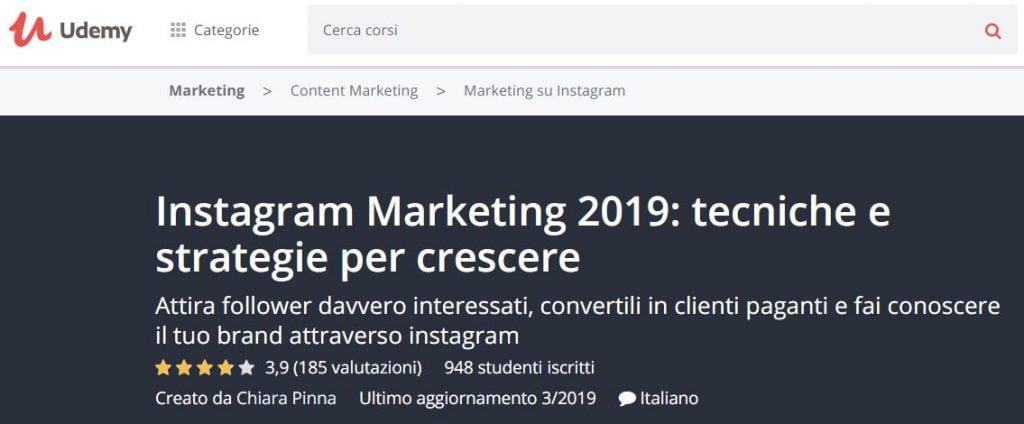 corso instagram marketing 2019
