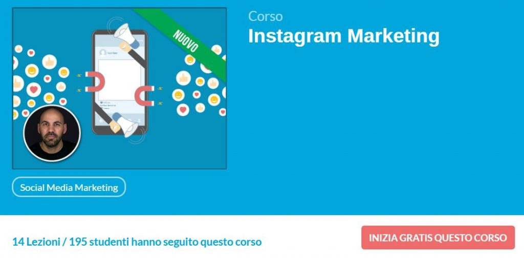 corso instagram marketing studio samo