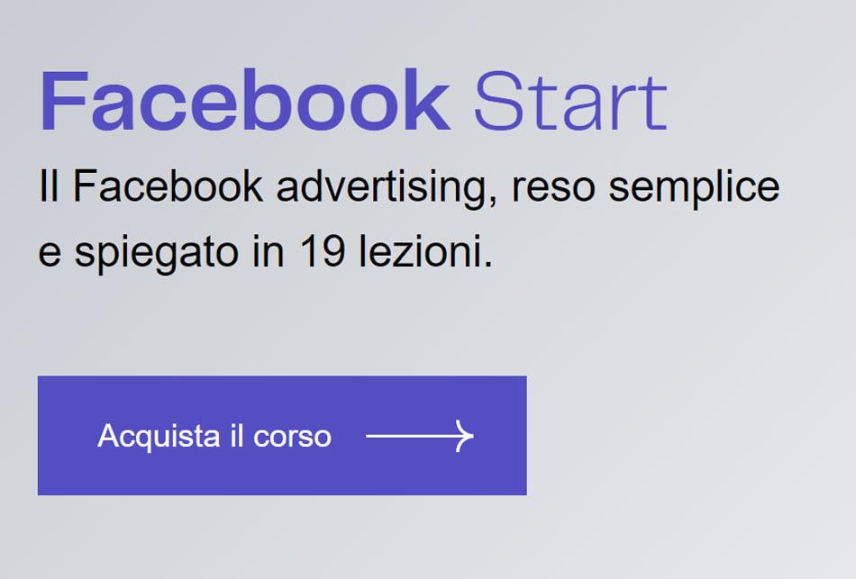 corsi facebook ads