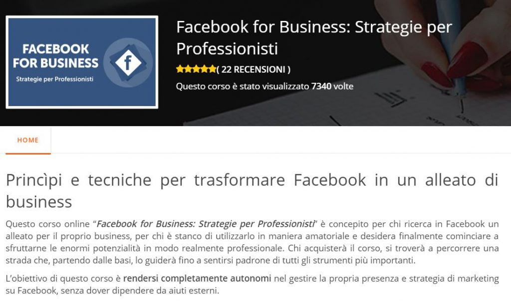 corso facebook business