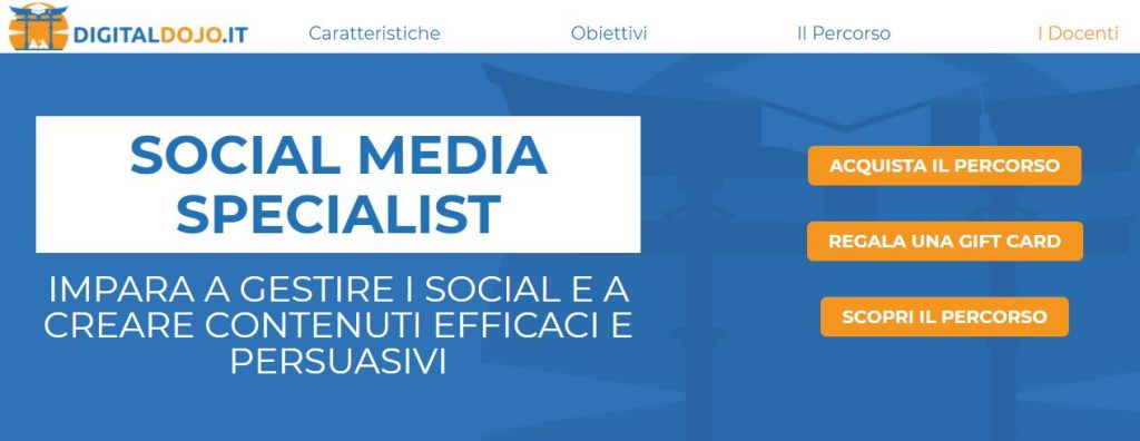 corso social media specialist digital dojo