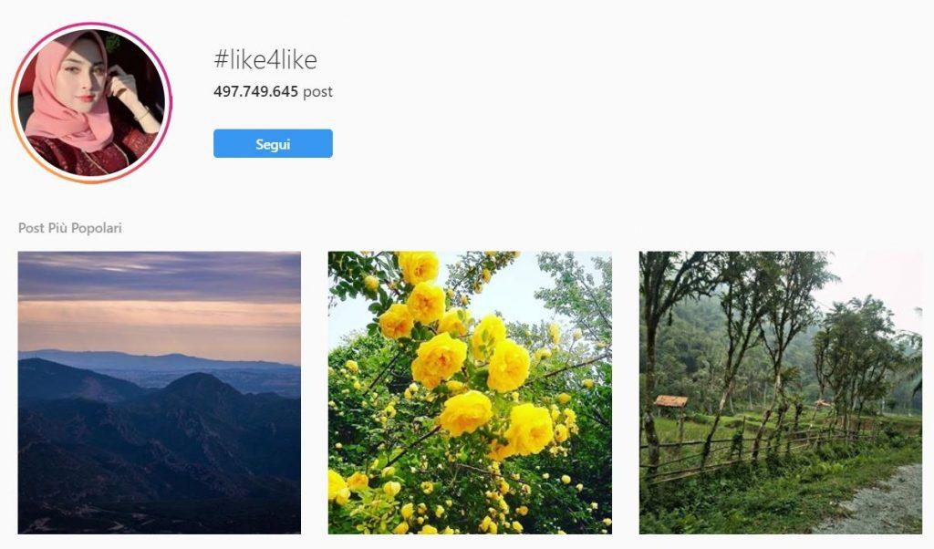 hashtag per aumentare like instagram