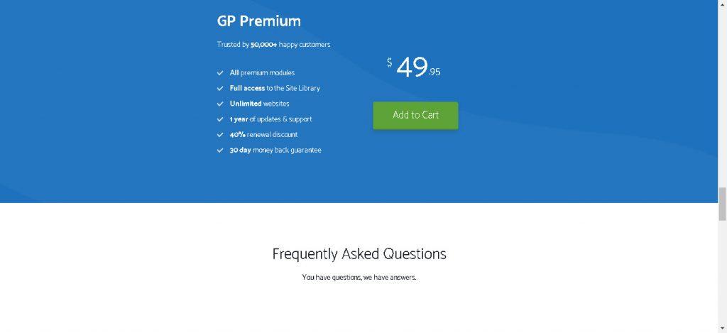 GeneratePress prezzo