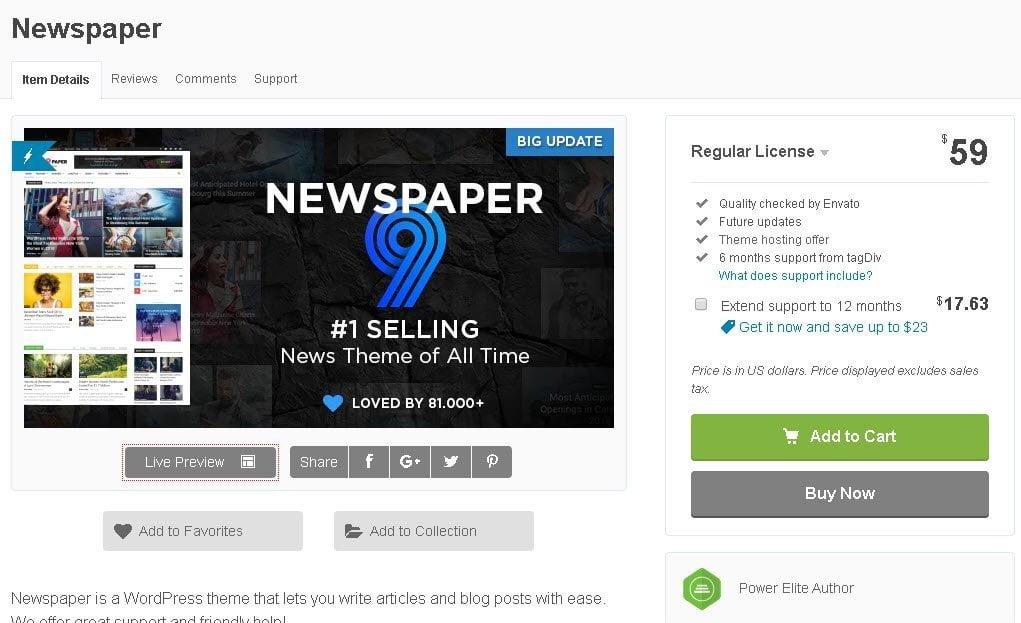 NewsPaper theme prezzo