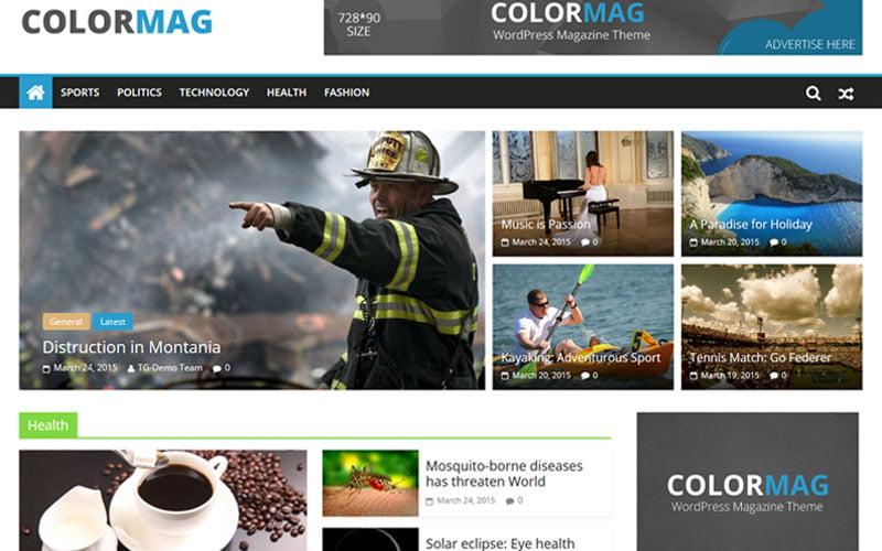 miglior tema wordpress ColorMag