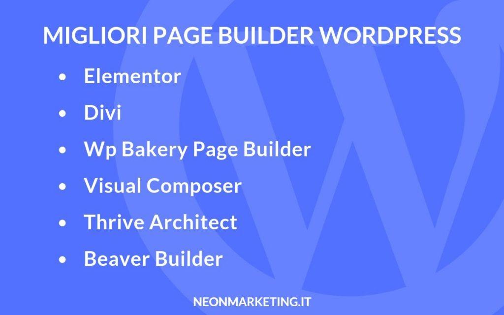 migliori page builder wordpress