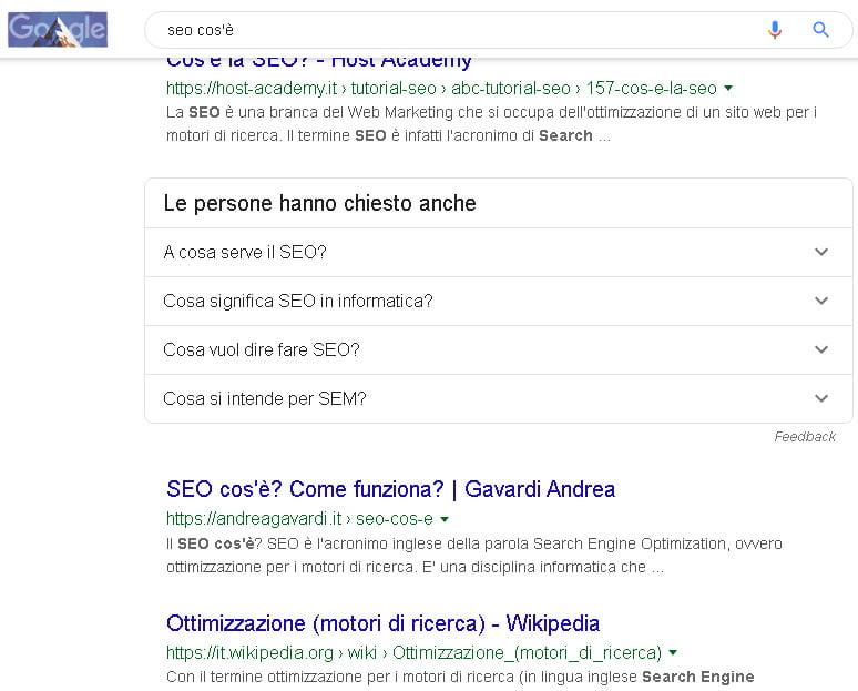 seo cos'è ricerca su Google