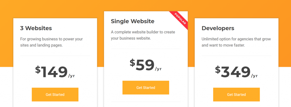 visual composer page builder wordpress pricing