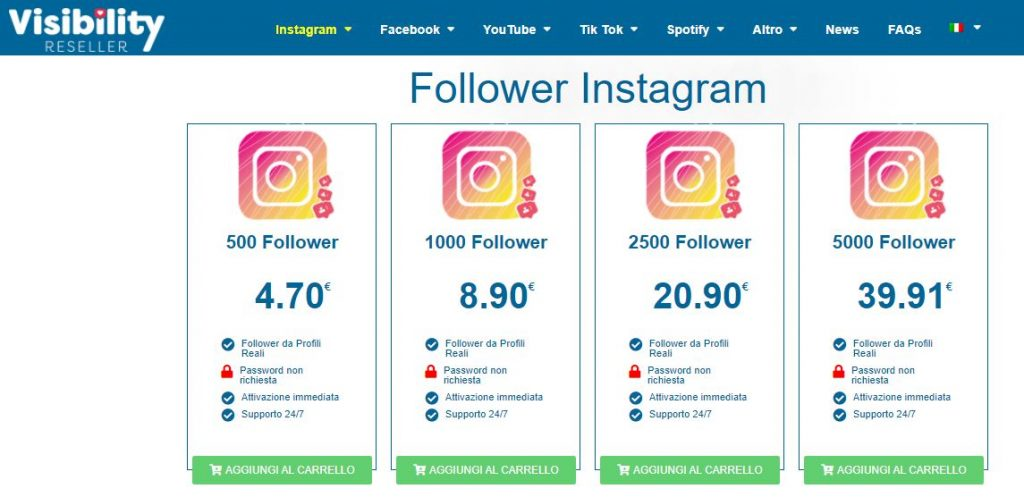 comprare follower instagram visibility reseller