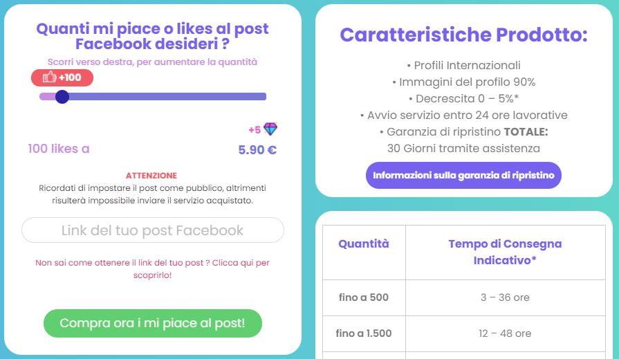 comprare like post facebook comprasocial