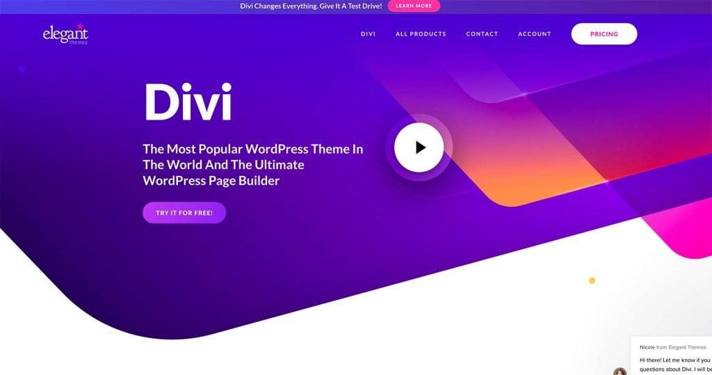 Migliori temi WordPress a pagamento Divi