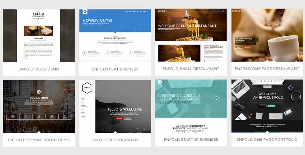 Enfold WordPress theme Siti demo