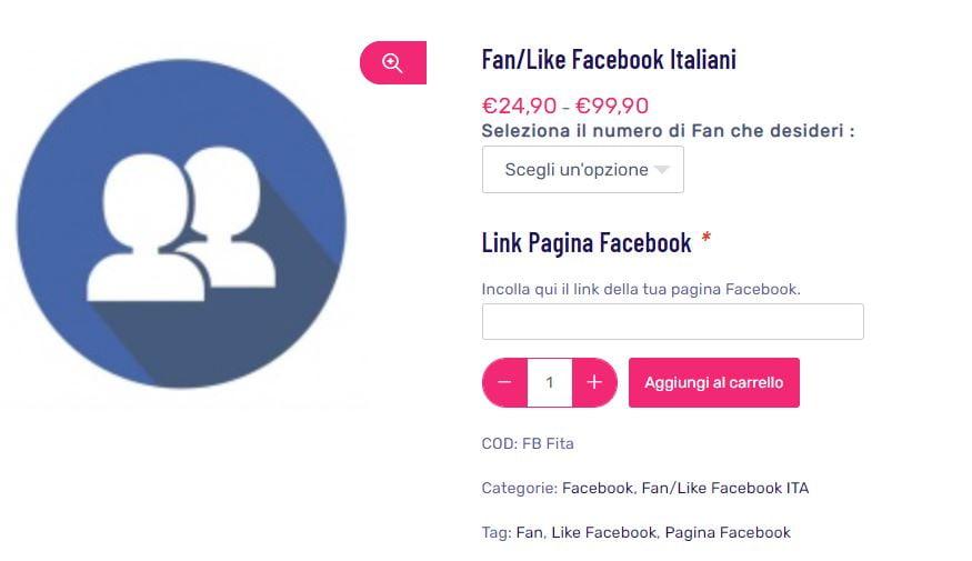 fan facebook italiani