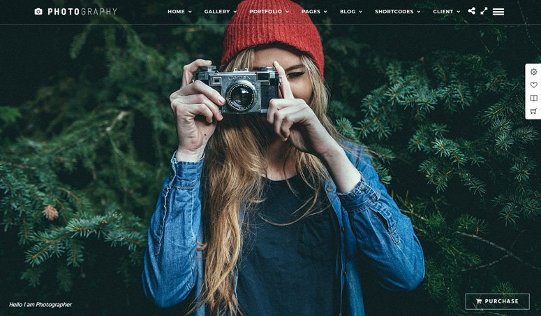 Photography theme su Themeforest