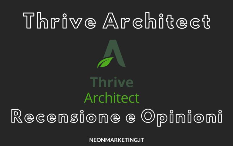 thrive architect recensione e opinioni del page builder