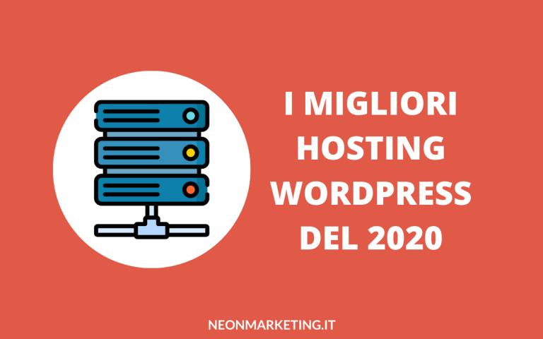 i migliori hosting wordpress del 2020