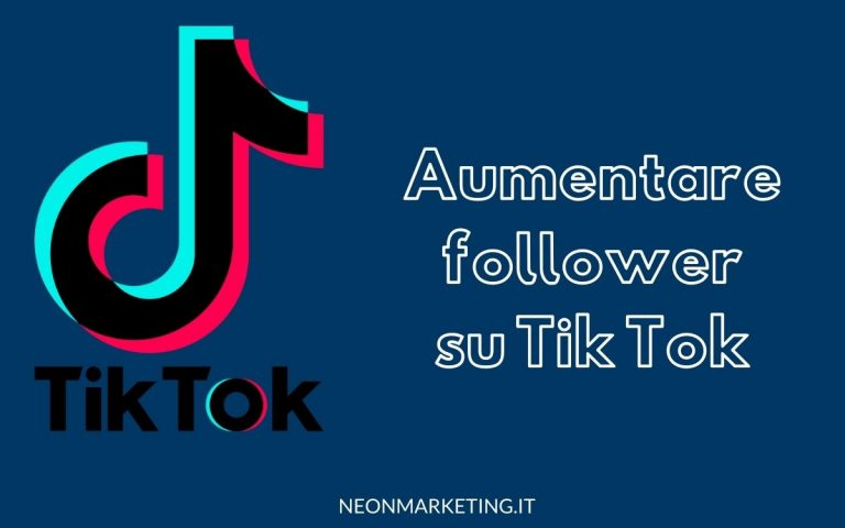 aumentare follower tik tok