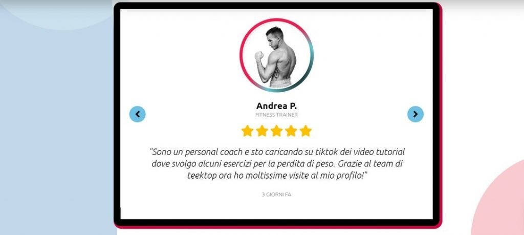 aumentare follower tiktok testimonianza