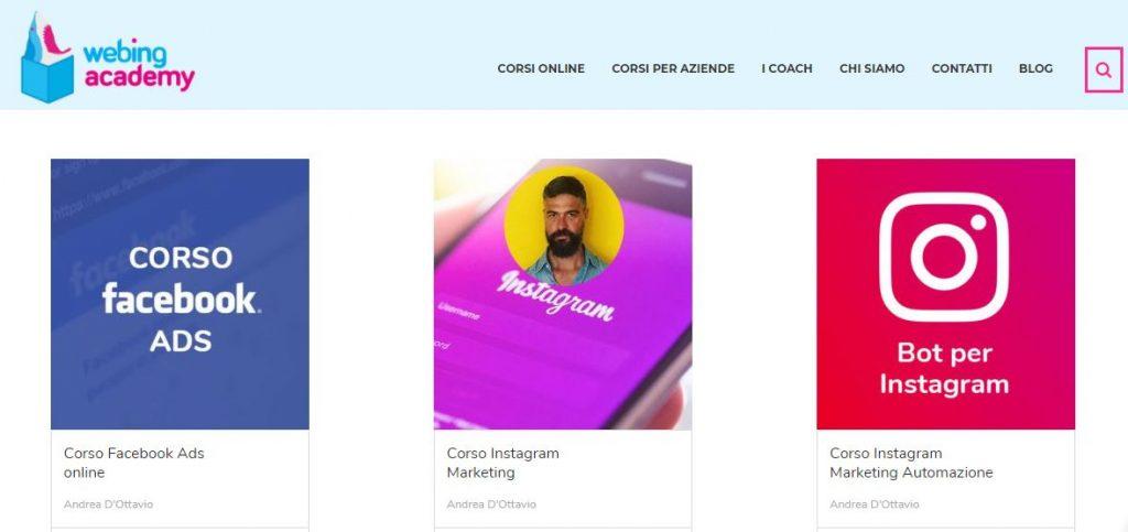 corsi web marketing webing academy