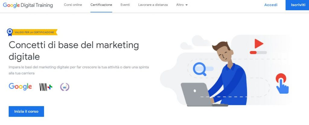corso digital marketing gratis