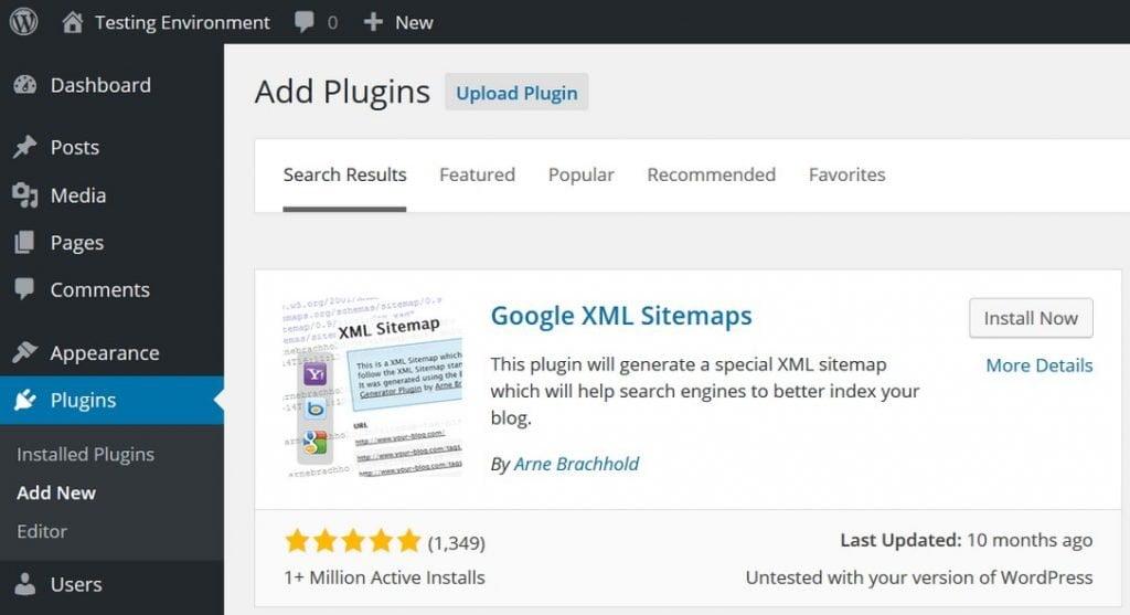google xml sitemaps plugis wordpress