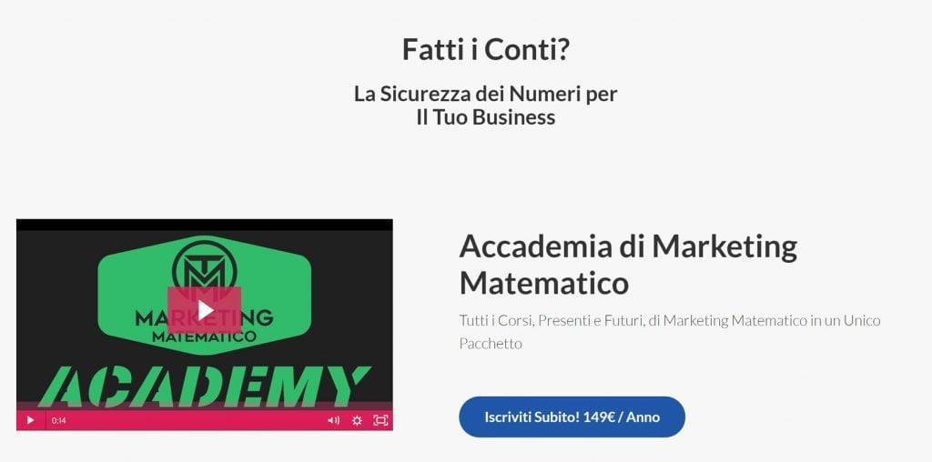 accademia marketing matematico