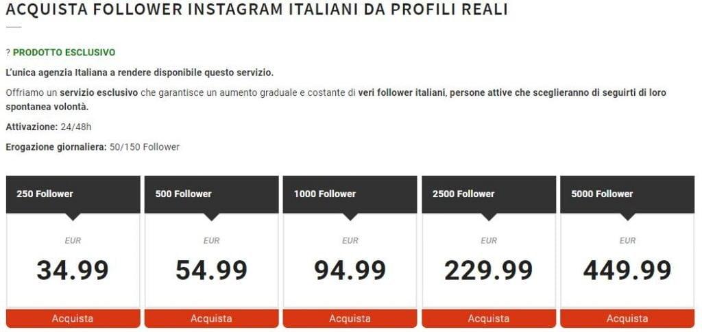 comprare follower instagram reali italiani 2020