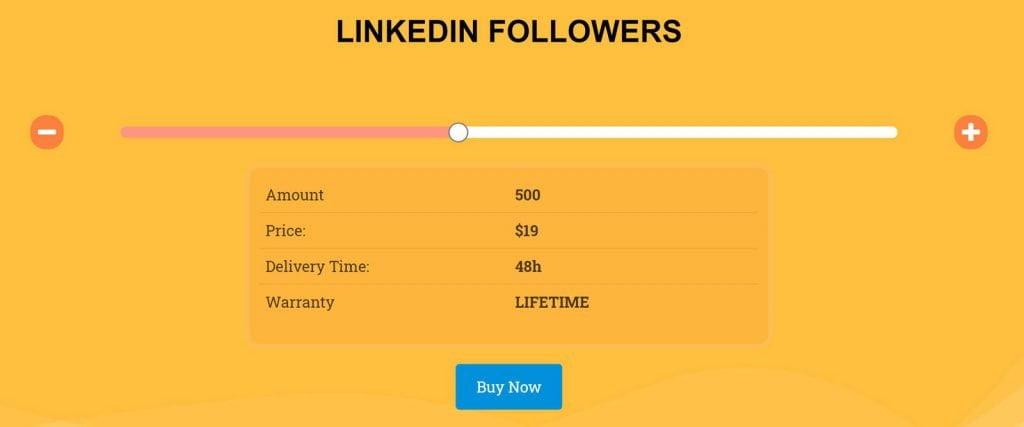 compra follower linkedin