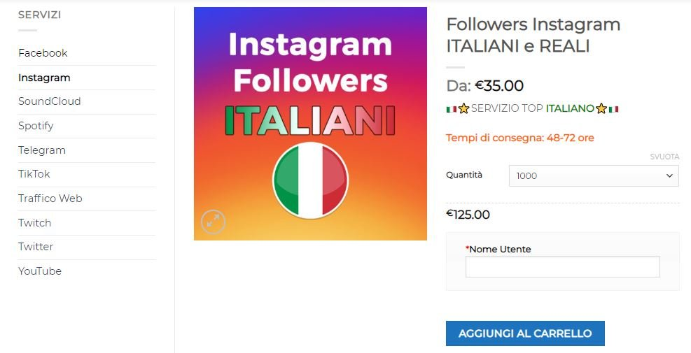 compra followers italiani reali attivi