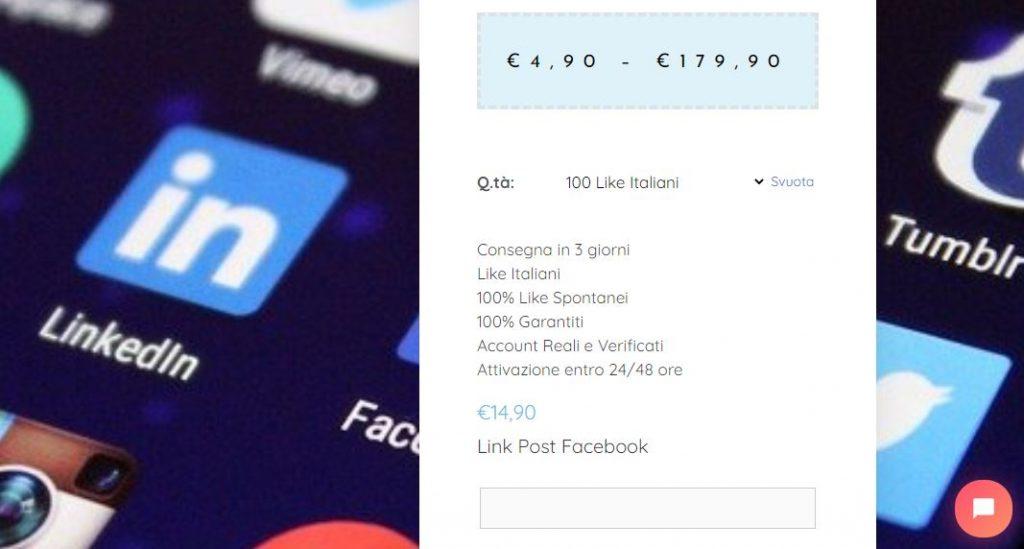 comprare like facebook italiani reali