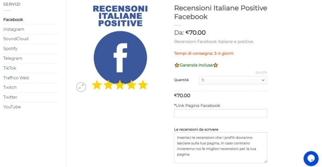 recensioni italiane positive facebook