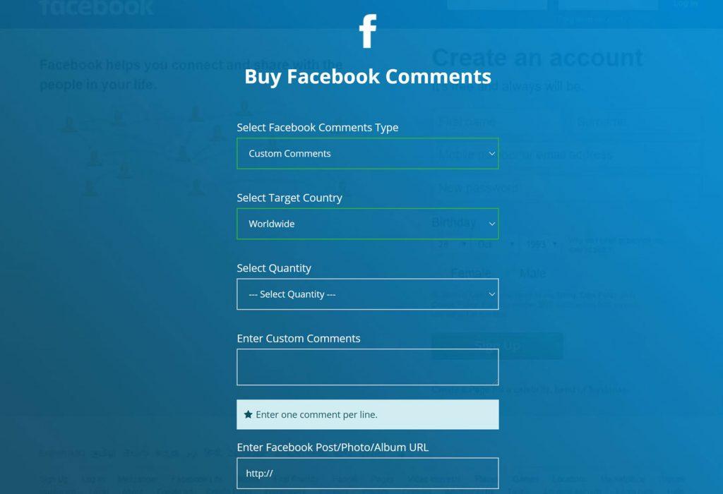 acquista commenti facebook