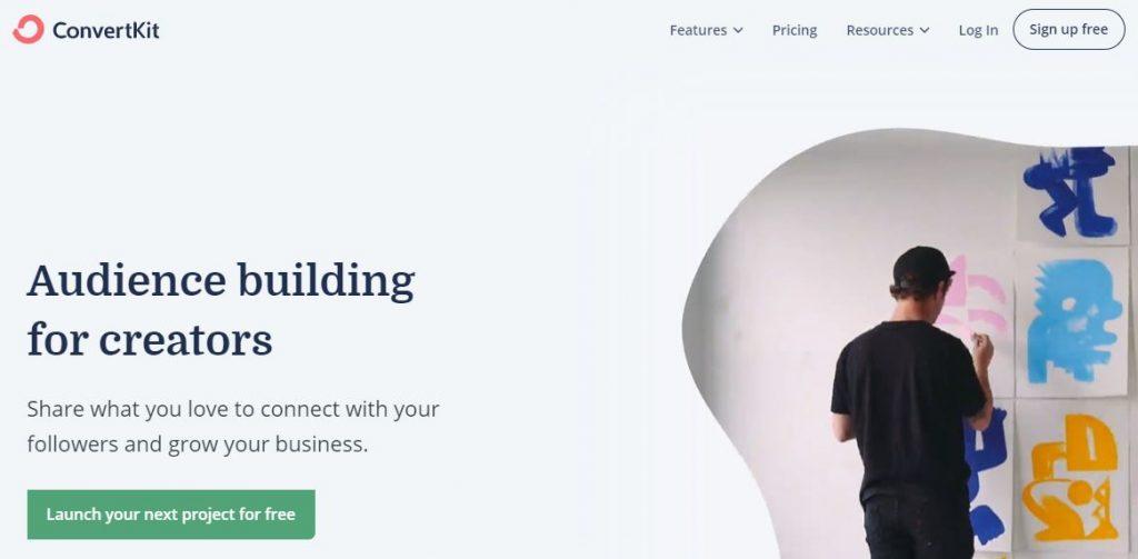 piattaforma email marketing convertkit
