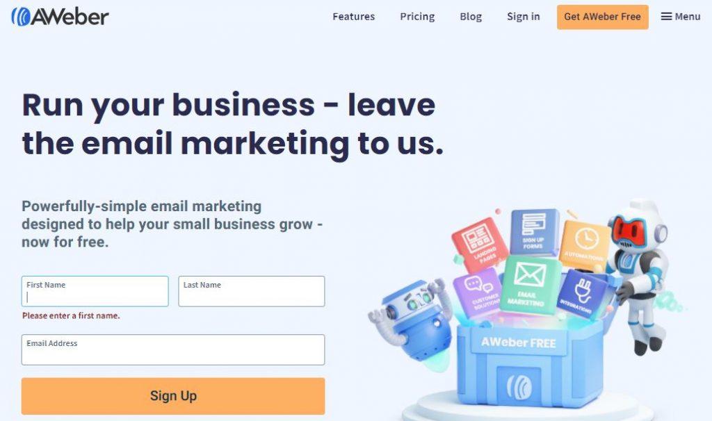 programmi email marketing aweber