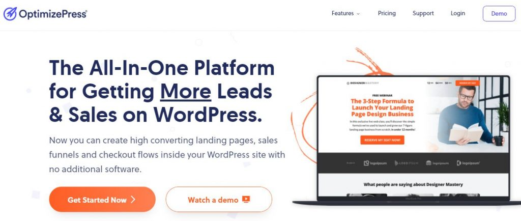 landing page creator optimizepress