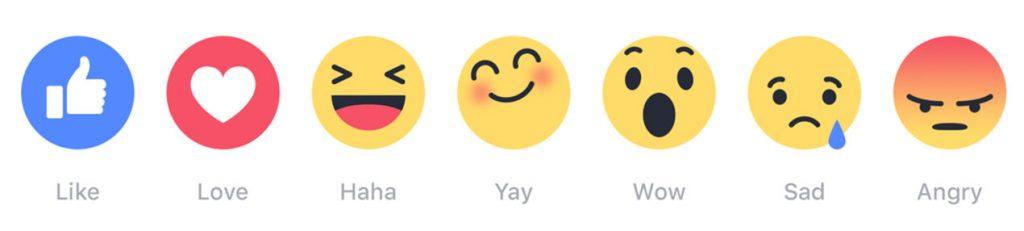 reazioni facebook significato