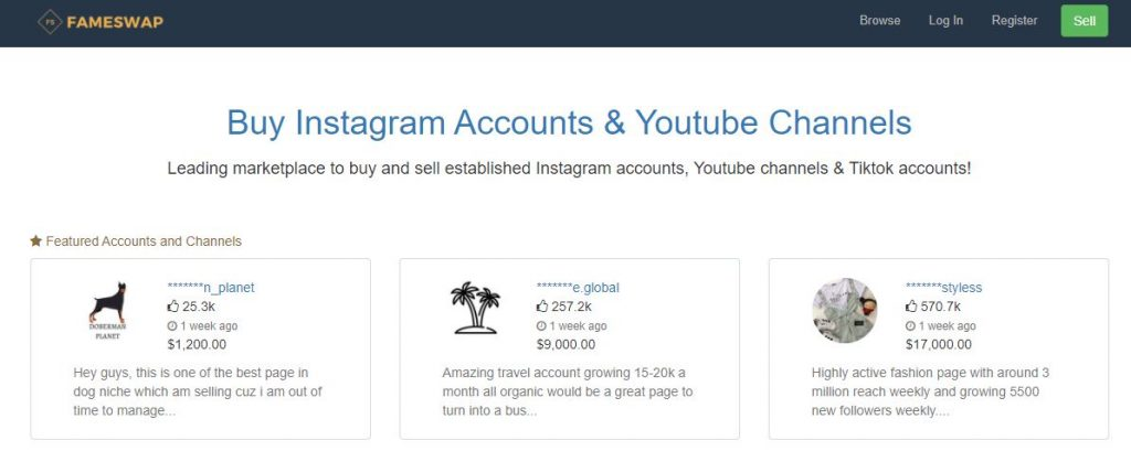 compra account instagram famewsap
