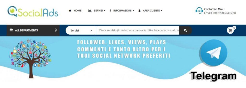 comprare membri telegram socialads