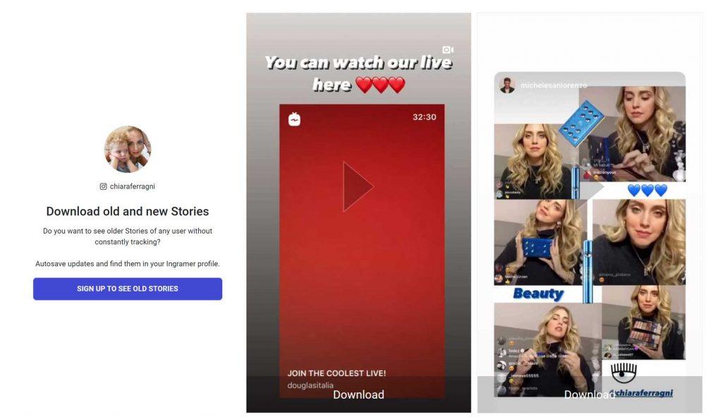 Scaricare Storie Instagram online