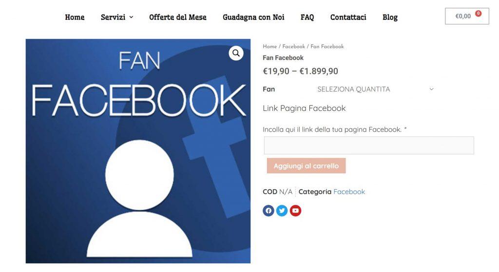 comprare like facebook italiani