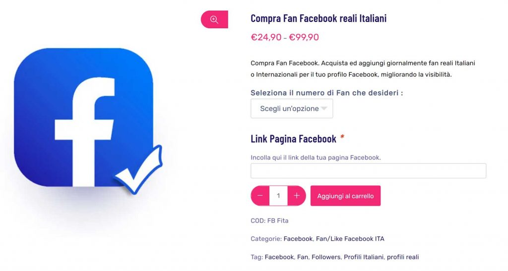 like facebook italiani