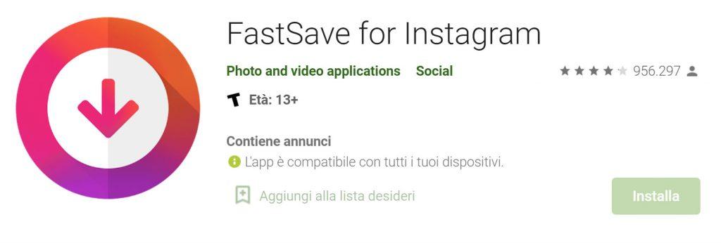scaricare foto da Instagram Android